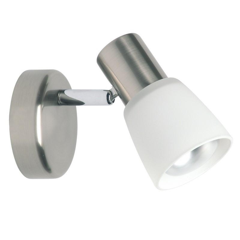 Mat chroom, Chroom wandlamp Akke