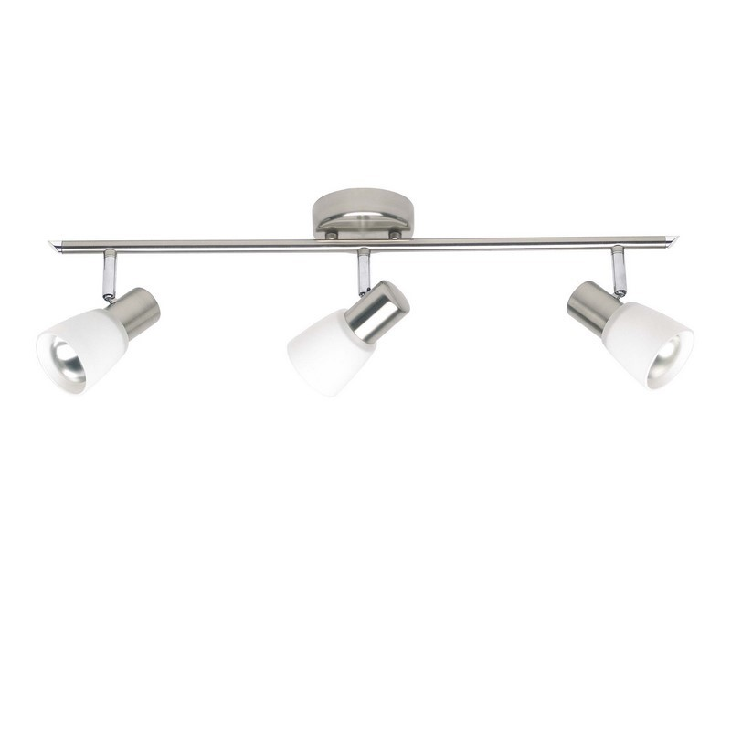 Plafondlamp Loet, Chroom, 3 glazen lampjes