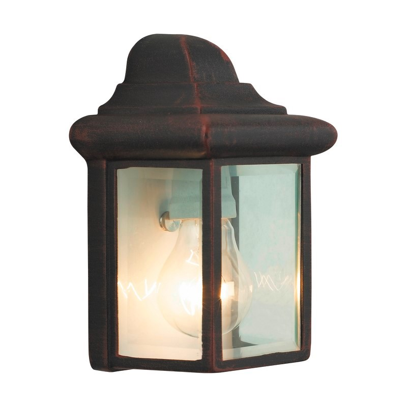 Roestbruine buiten wandlamp Abbigail