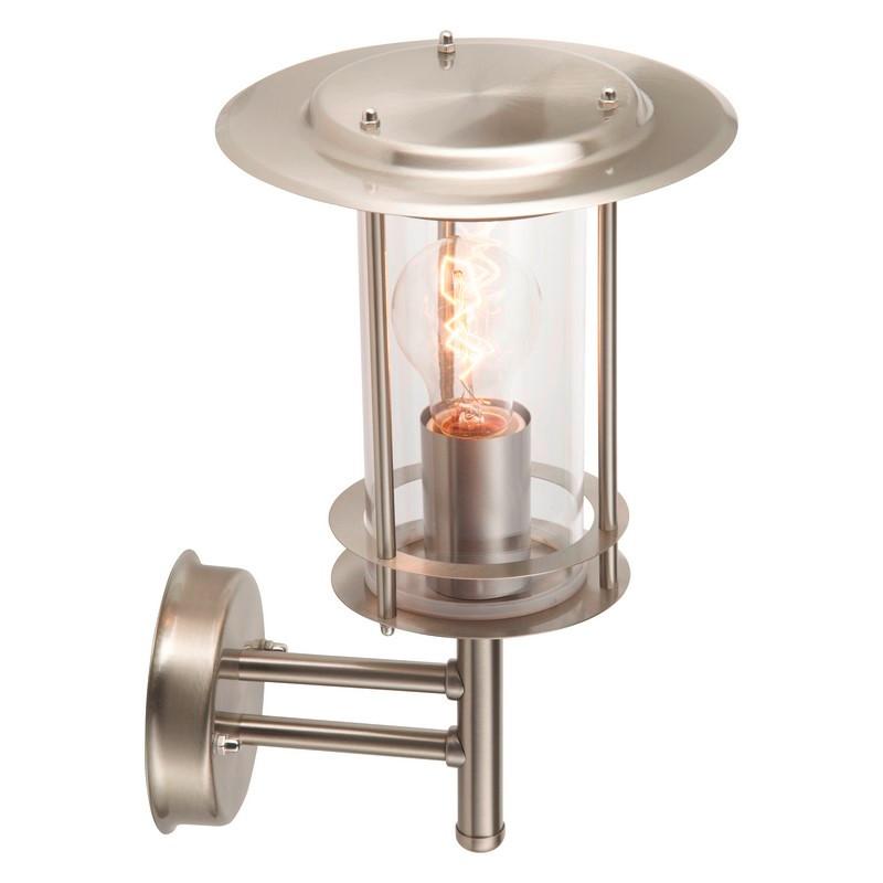 Chroom buiten wandlamp Alivia