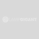 Moderne plafondlamp Ally, Bruin en Chroom en Wit