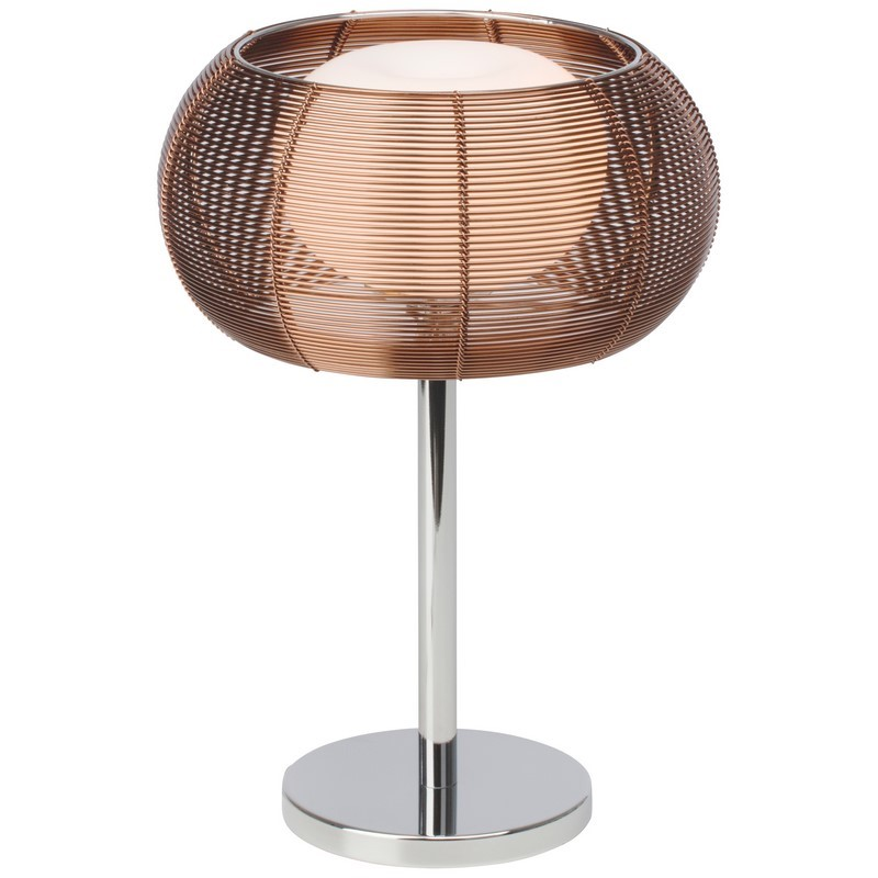 Moderne tafellamp Amela, Brons en Chroom