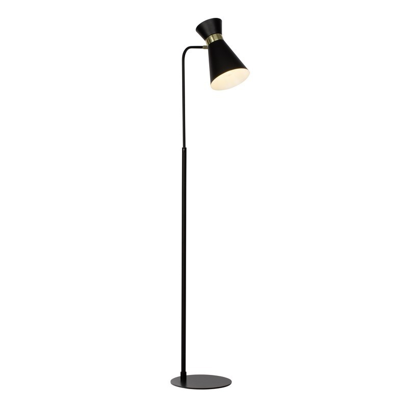Moderne  vloerlamp Albane, Zwart en Goud