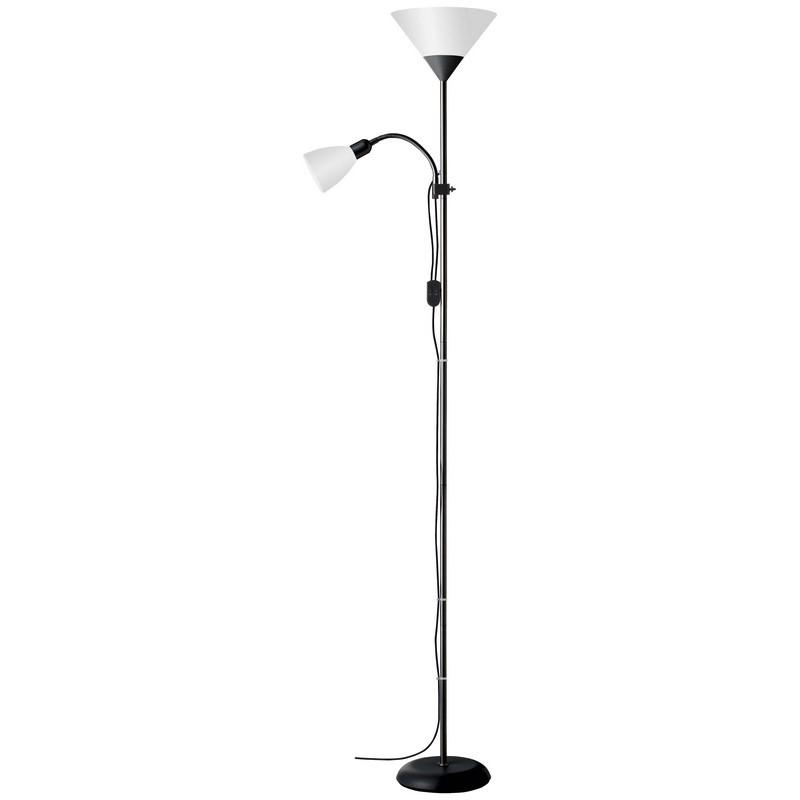 Zwarte, Witte vloerlamp Josephina