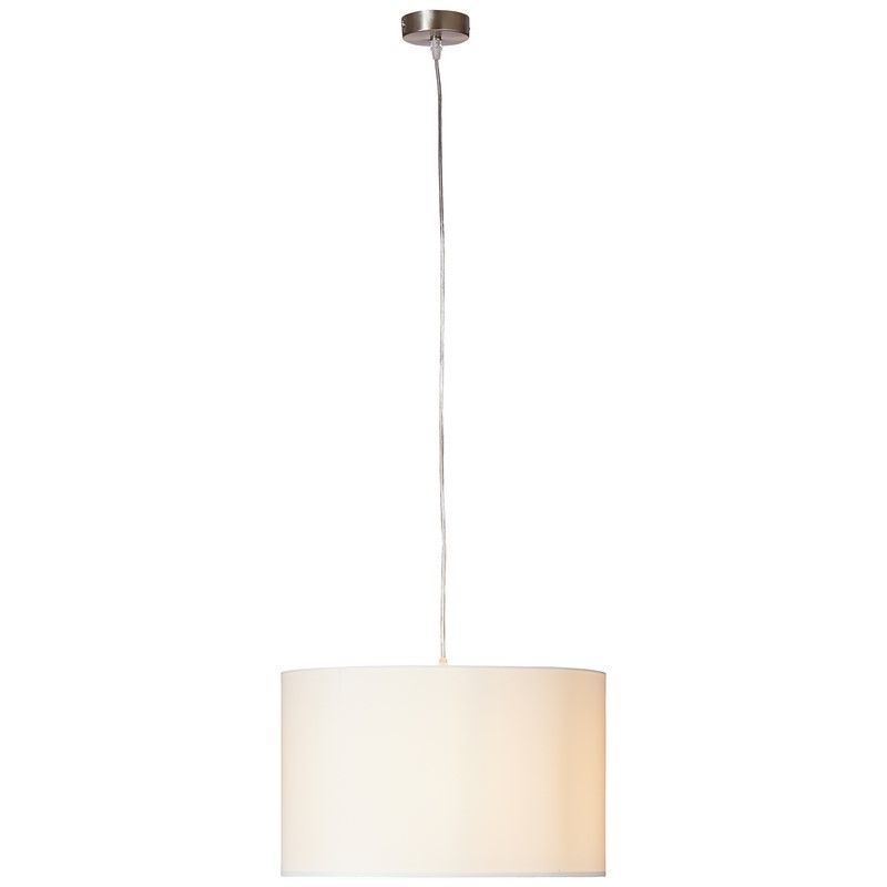 Witte, stoffen hanglamp Tanno