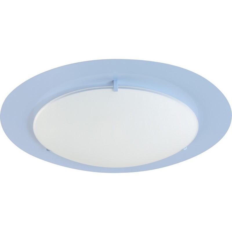 Blauwe plafondlamp kinderkamer
