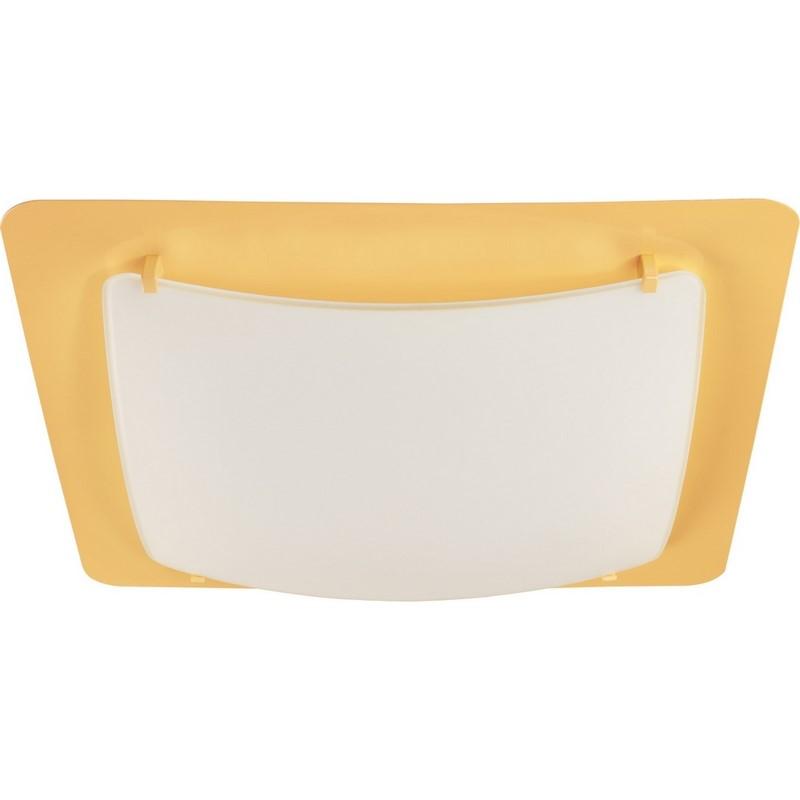 Gele plafonniere kinderkamer - Vierkant