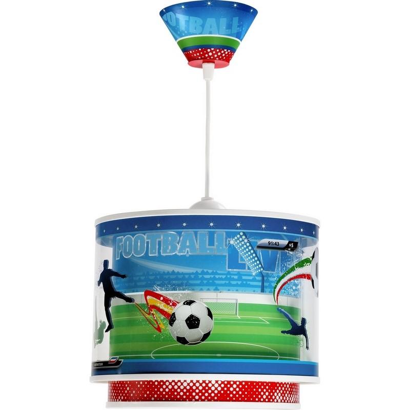 Voetbal lamp jongenskamer - Groen Rood Blauw