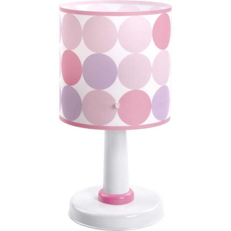 Meisjeskamer tafellamp Rondjes - Roze