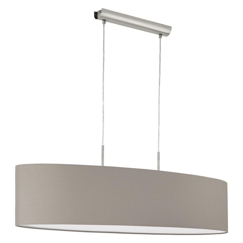 Eettafel hanglamp Abano Taupe stoffen lampenkap