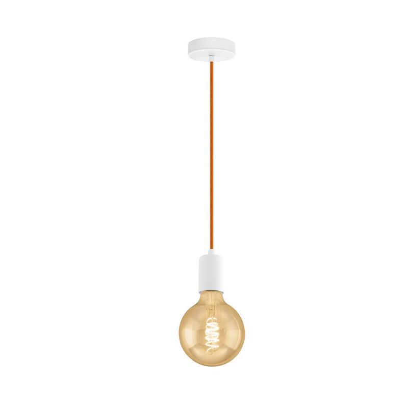 Stalen hanglamp Christel wit