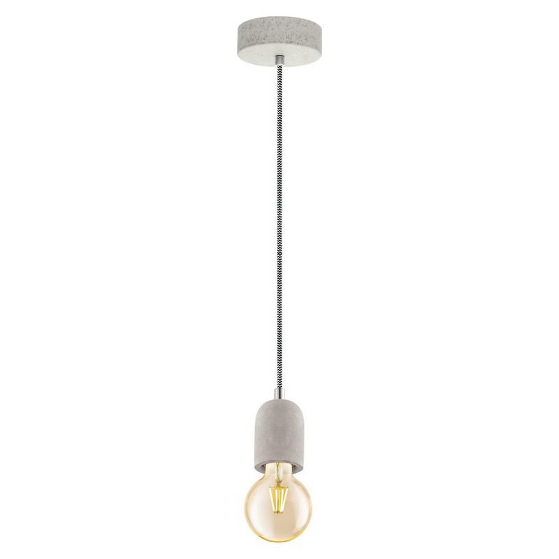 Stalen hanglamp Christel grijs