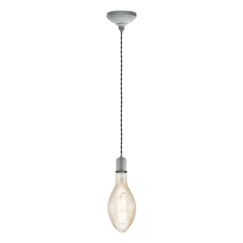 Stalen hanglamp Christel zilver