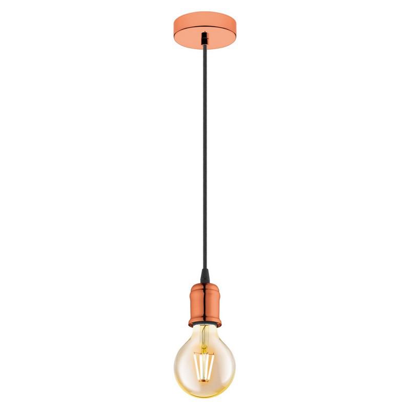 Stalen hanglamp Christel koper