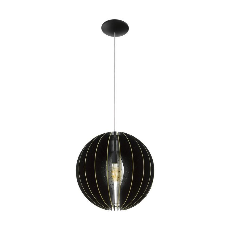 Stalen hanglamp Daron zwart