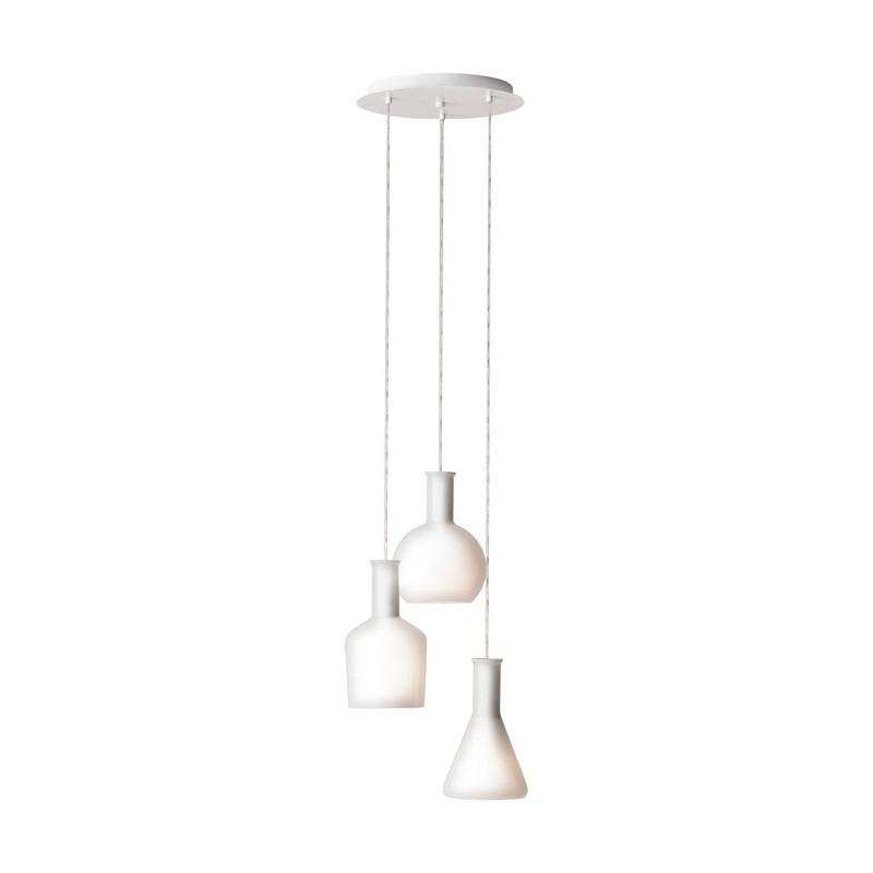 Stalen hanglamp Salah wit