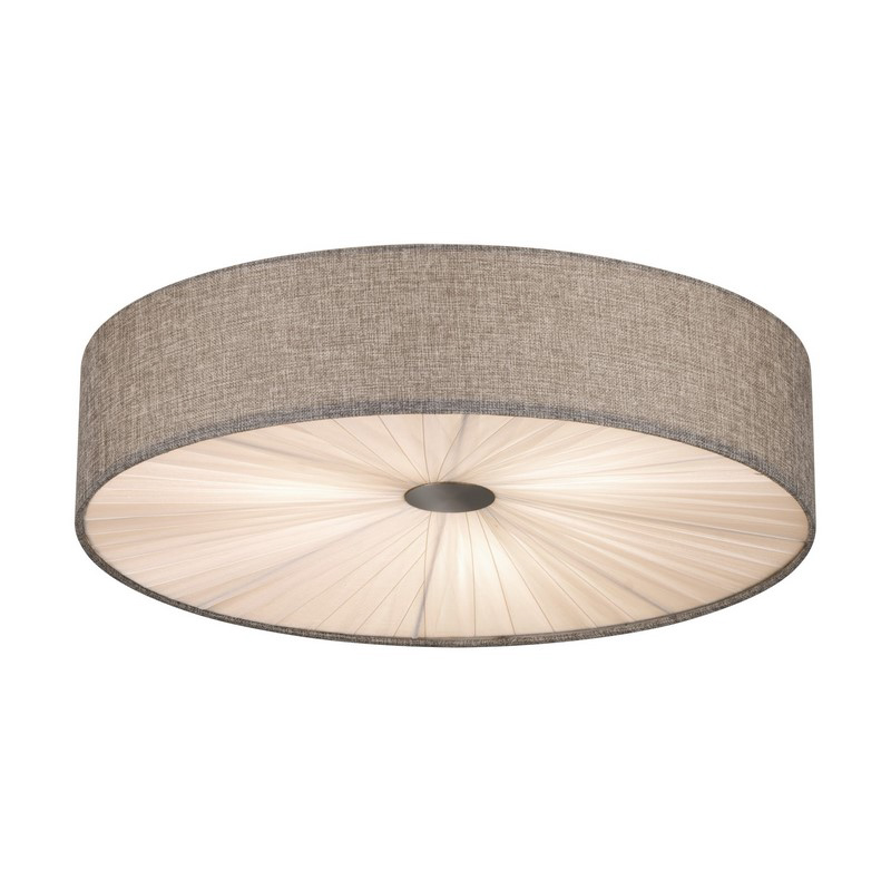 Stalen plafondlamp Liena nikkel