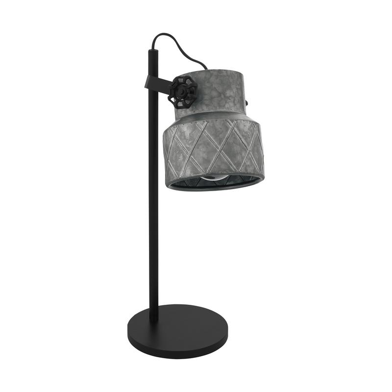 Zwarte retro tafellamp, Katrien, staal