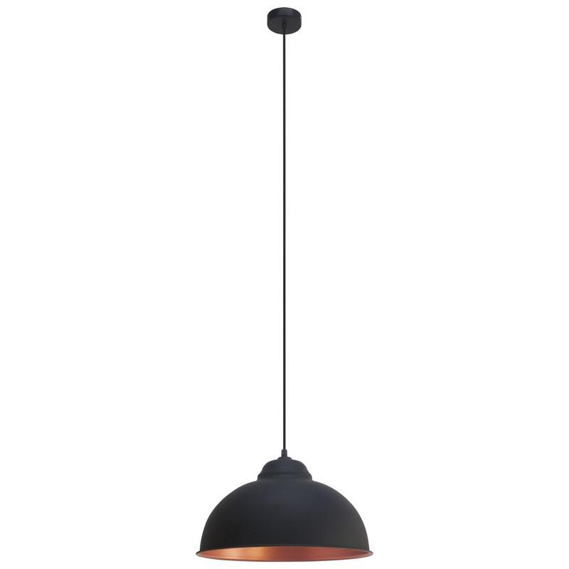 Moderne industriele hanglamp Liana Zwart Koper