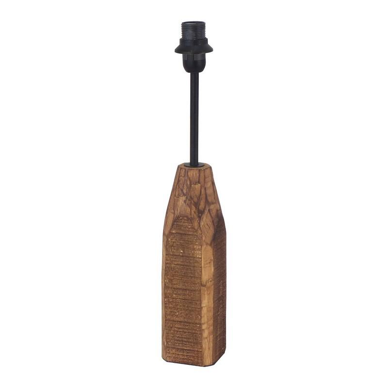 Landelijke tafellampvoet Noah Hout/Staal Natuur