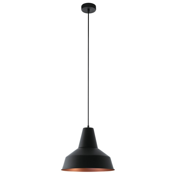 Aboubakr hanglamp - Zwart Koper