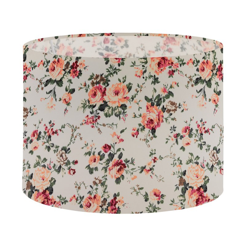 Klassieke lampenkap Noah Textiel Wit With Decor Flowers