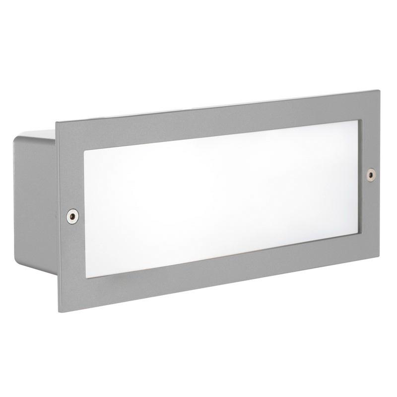 Elfida buitenlamp gegoten aluminium zilver