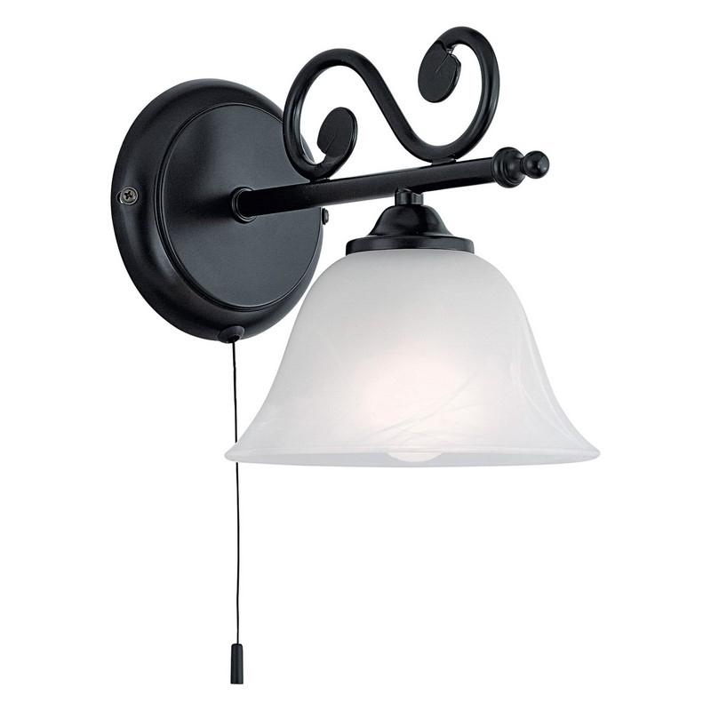 Malage wandlamp Landelijk / Klassiek Zwart / Wit