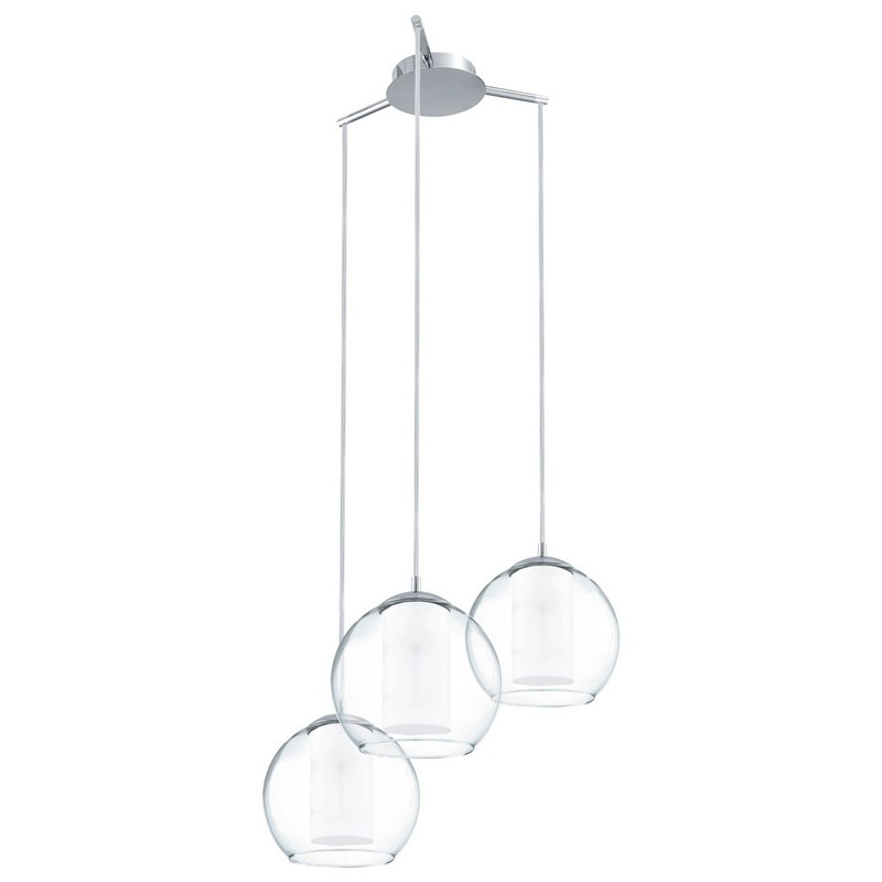 Silvijn II hanglamp bolvormige lampenkap van glas