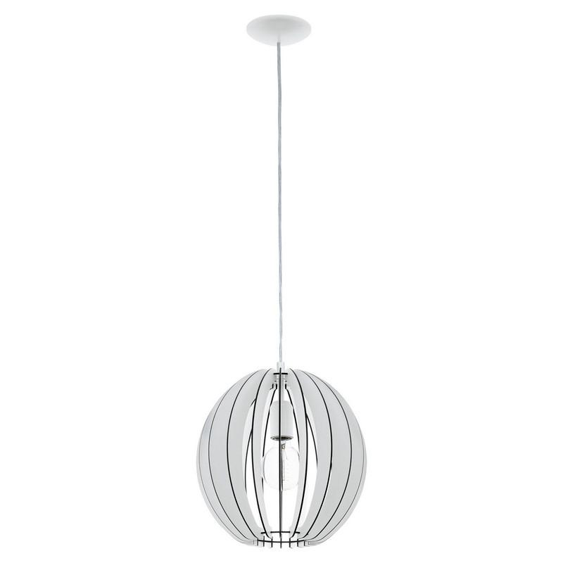 Witte houten hanglamp Pogalli