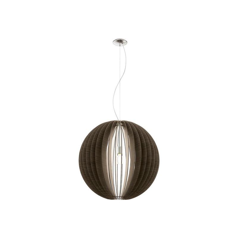 Grote ronde houten hanglamp Bergama