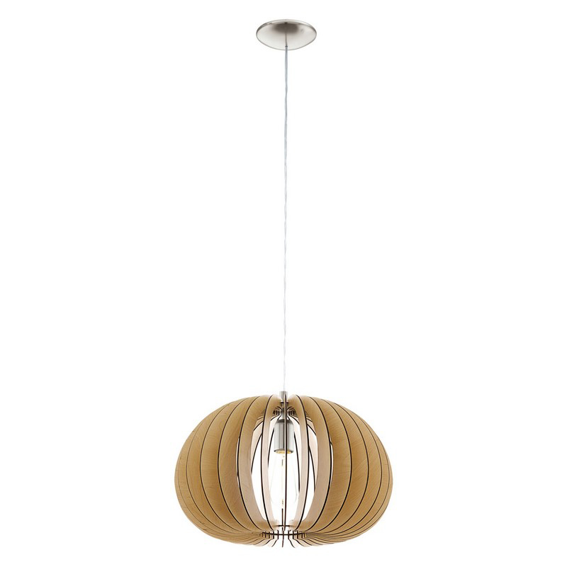 Hout hanglamp Bergamo Naturel kleur