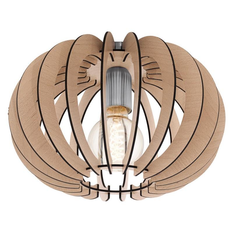 Stalen plafondlamp Kiran nikkel