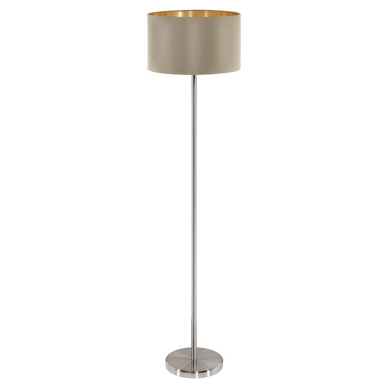 Angelica vloerlamp - Nikkel-Mat