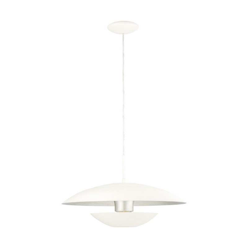Ashkan hanglamp - Wit Zilver