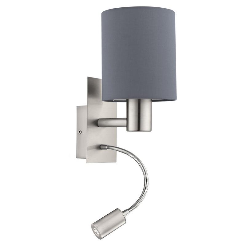 Bruno wandlamp - Nikkel-Mat