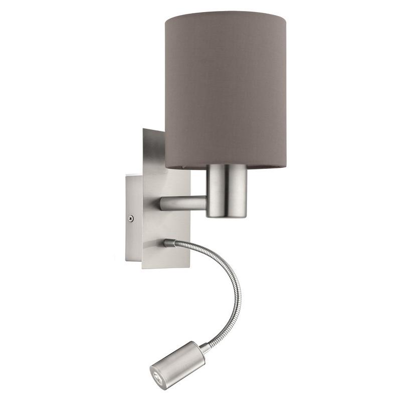 Bryan wandlamp - Nikkel-Mat