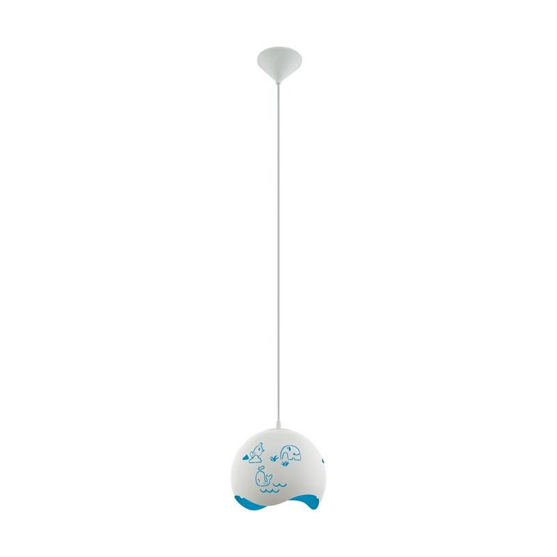 Kunststof hanglamp Mitzi wit