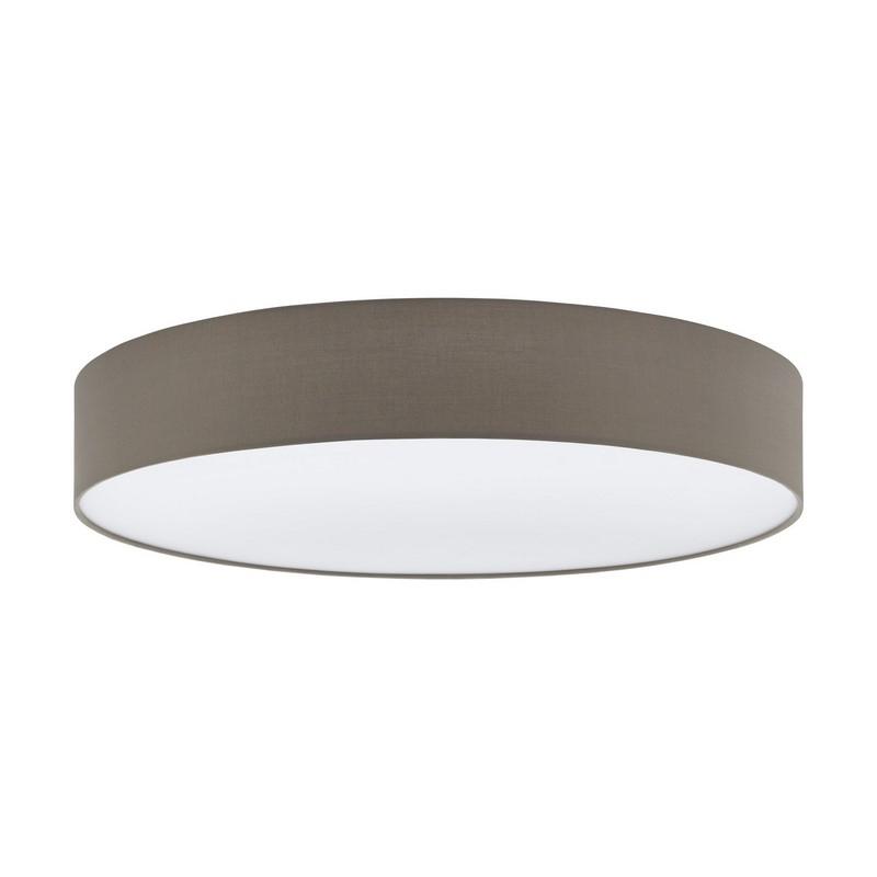 Stalen plafondlamp Michel wit