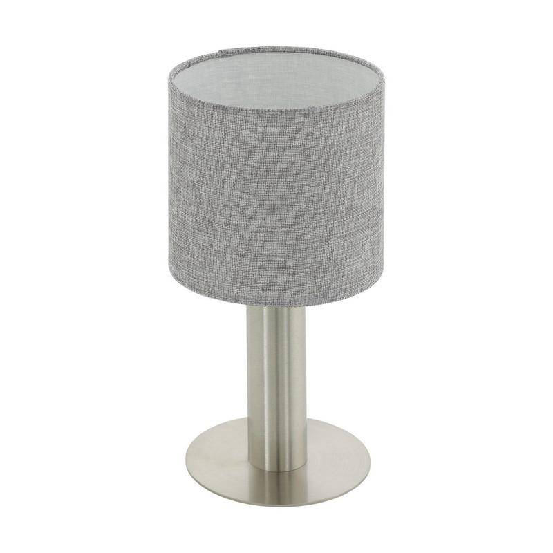 Stalen tafellamp Mieke nikkel