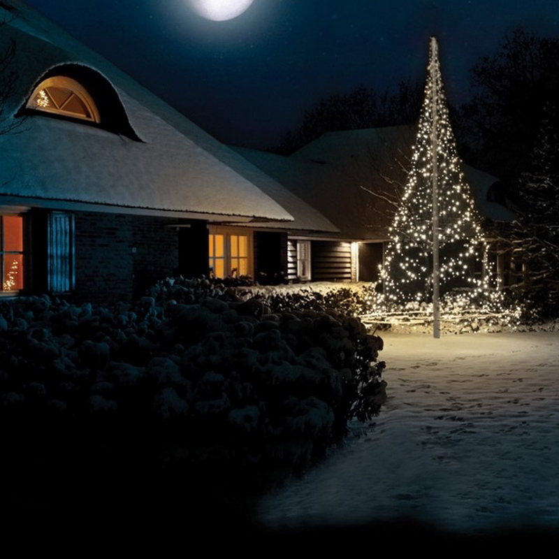 6M hoge vlaggenmast kerstboom, 900 lampjes