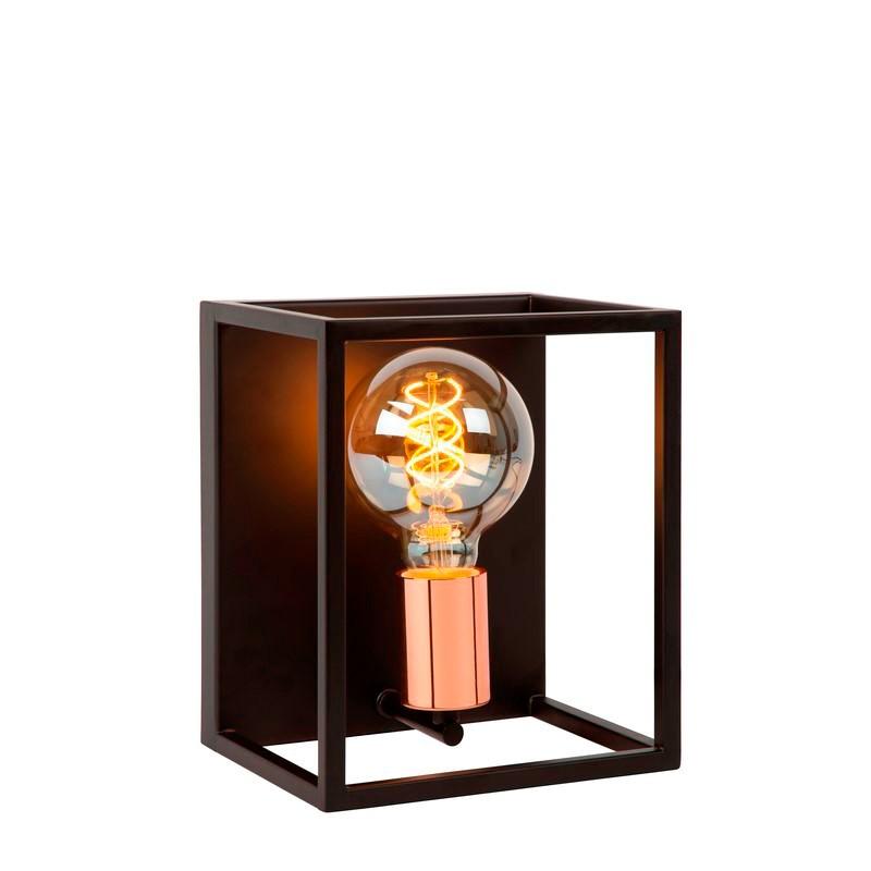 Moderne wandlamp Arthur, Zwart en Koper