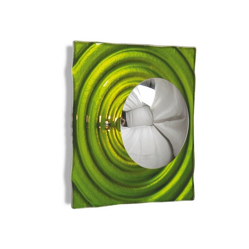 Wandlamp Louiza design, groen vierkant