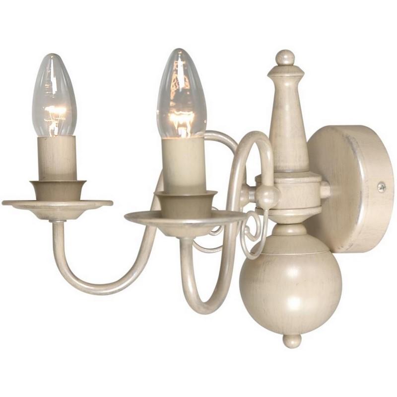 Klassieke Quincy wandlamp groot, creme