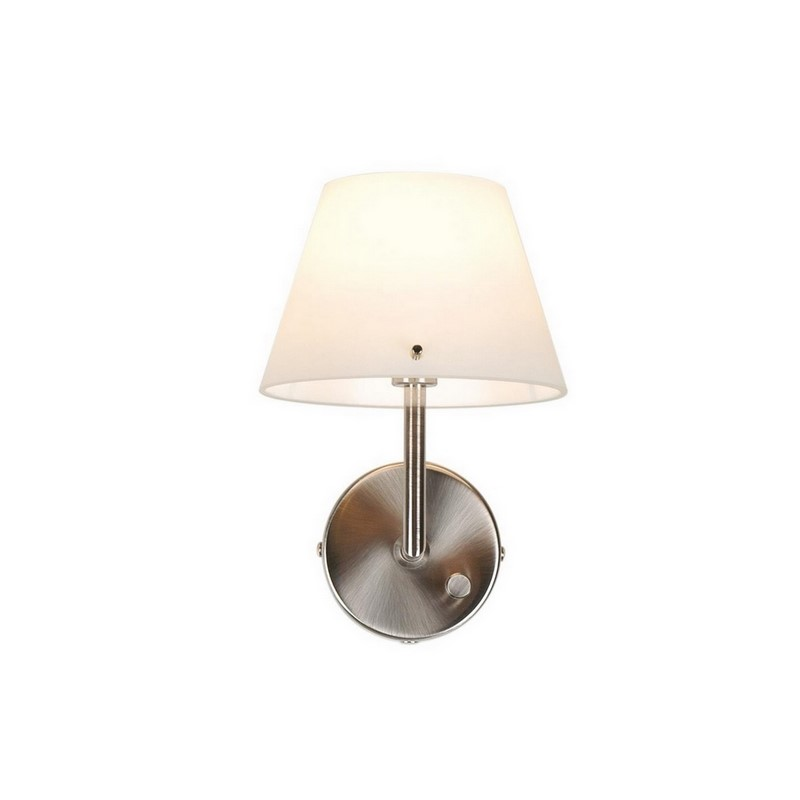 Ishra wandlamp rond, witte kap