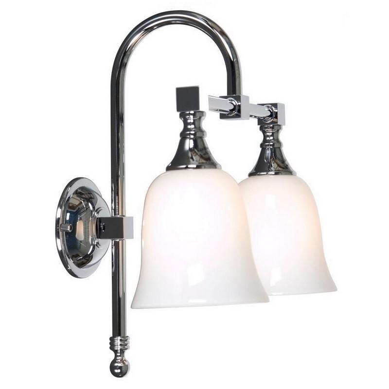 Klassieke dubbele wandlamp Delcia 08, chroom