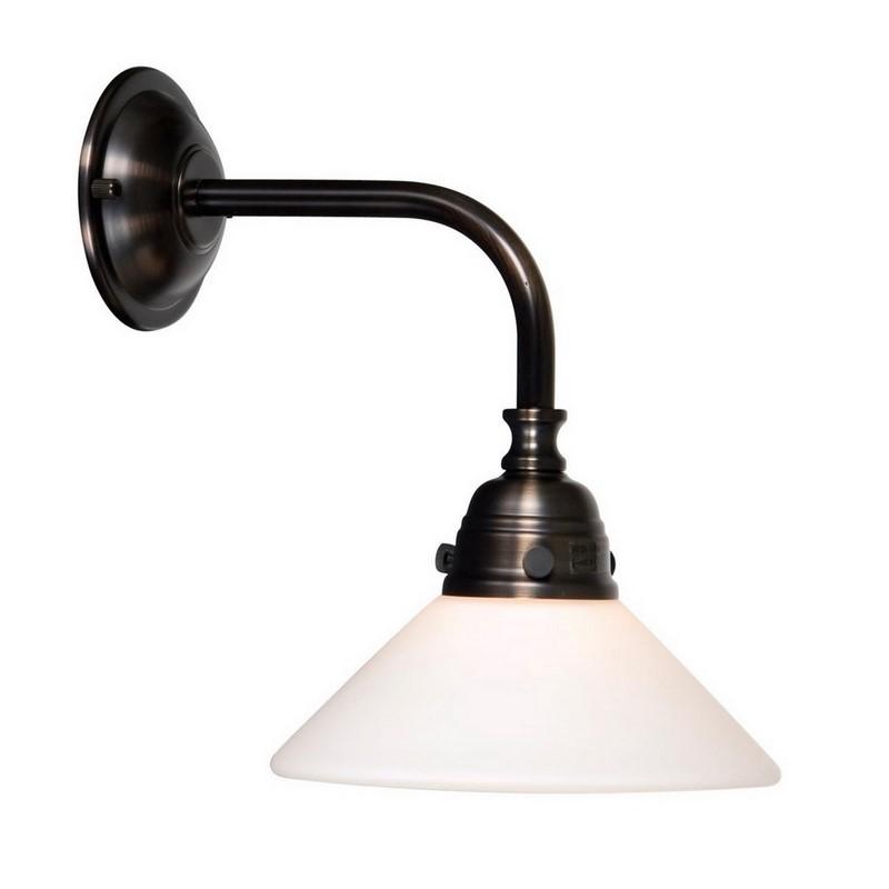 Ronde Delicia badkamer wandlamp, brons