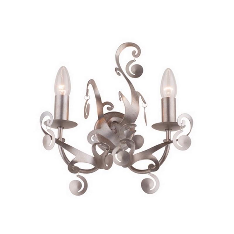 Zilvergrijze Menthe wandlamp, klassiek
