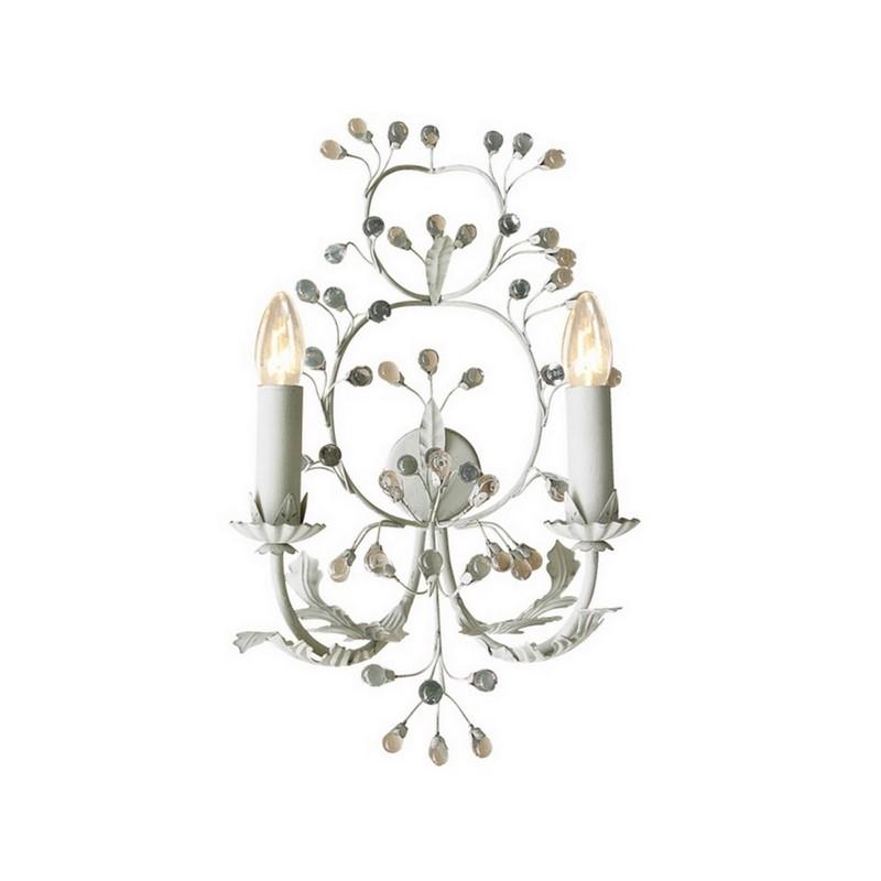 Landelijke wandlamp Meral, grijs/beige
