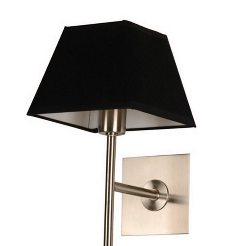 Wandlamp Meba modern, zwart stof